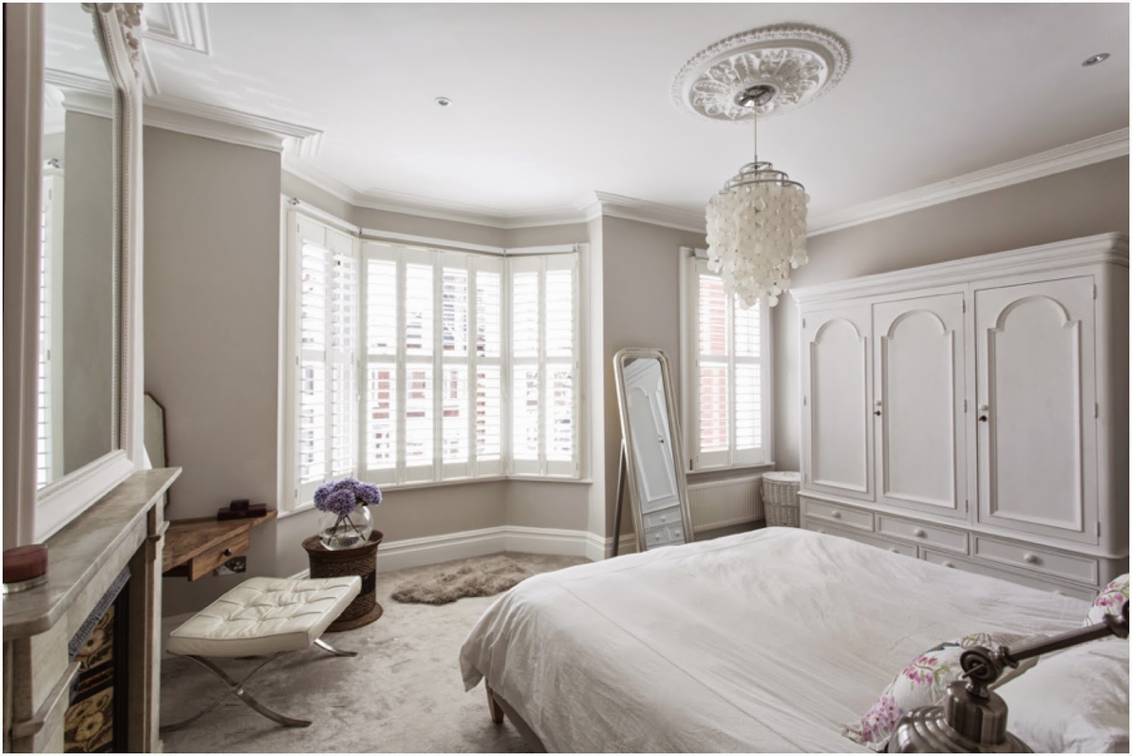 Master bedroom victorian terrace in london laura butler for Terrace white